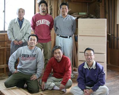 桐の蔵の職人たち