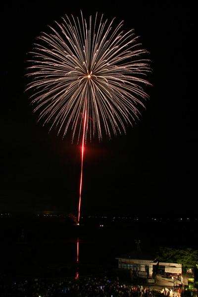水原 瓢湖の花火2