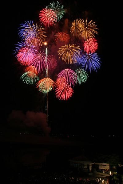水原 瓢湖の花火1