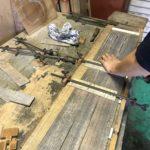 桐たんすの木取り  「柾の目直し」