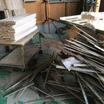 桐たんすの木取り 3分板、4分板を切る。