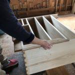 桐たんすの組み立て 北海道S様の桐チェストを作る2