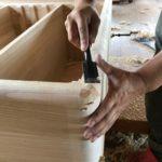 桐たんすの組み立て 愛媛県O様の和たんすを作る4