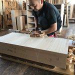 桐たんすの組み立て 岐阜県I様の桐チェストを作る2