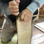 桐たんすの組み立て 東京都H様の整理たんすを作る2