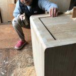 桐たんすの組み立て 神奈川県K様の整理たんすを作る3