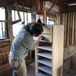 桐たんすの組み立て宮城県M様の整理たんすを作る6
