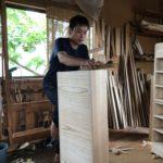 桐たんすの組み立て 大阪府H様の整理たんすを作る7