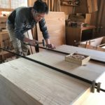 桐たんすの組み立て 富山県K様の和たんすを作る3