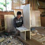 桐たんすの組み立て 富山県K様の和たんすを作る2