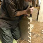 桐たんすの組み立て 埼玉県K様の整理たんすを作る
