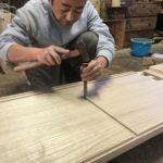 桐たんすの組み立て 埼玉県K様の整理たんすを作る5