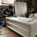 桐たんすの組み立て 兵庫県N様の和たんすを作る4