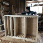 桐たんすの組み立て 兵庫県N様の和たんすを作る6