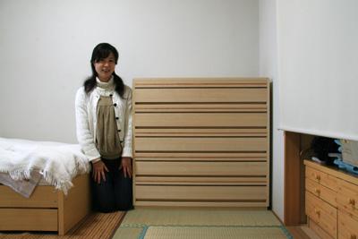 桐チェスト キリモニtwoカラー 別注4段