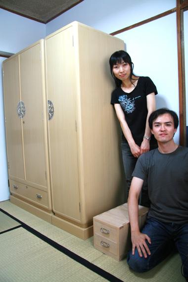 桐たんす 3.6寸 大丸面 洋服たんす