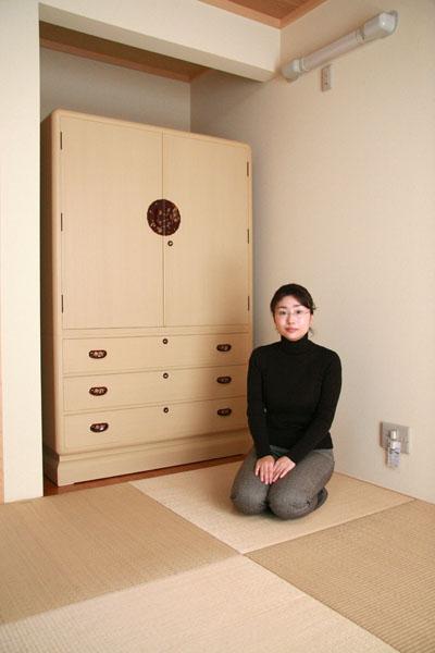 桐たんす 和たんす 3.8寸 下三 大丸面