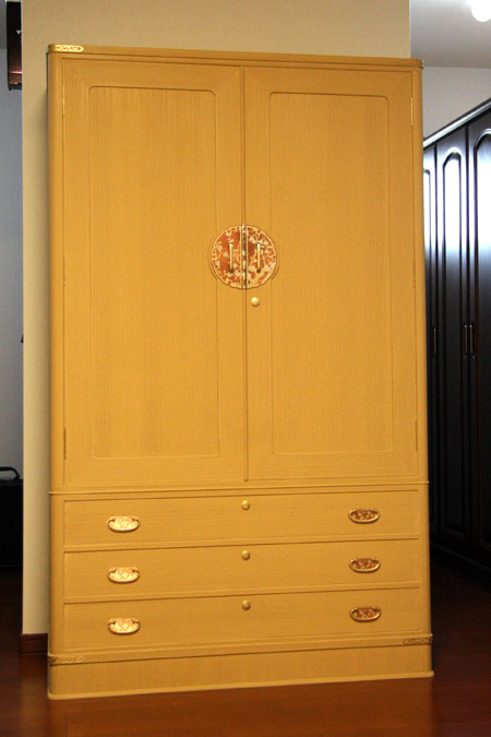 桐たんす 和たんす「花車」別注 額戸