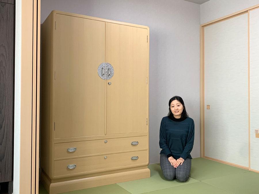 兵庫県 成山様 桐たんす 和たんす「葛葉」別注の画像