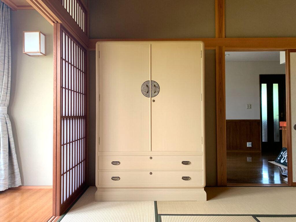 長野県 大塚様 桐たんす 和たんす「葛葉」別注の画像
