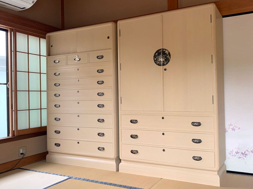 千葉県 矢貝様 桐たんす 和たんす&整理たんす「葛葉」の画像