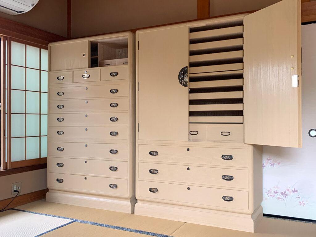 千葉県 矢貝様 桐たんす 和たんす&整理たんす「葛葉」の画像2