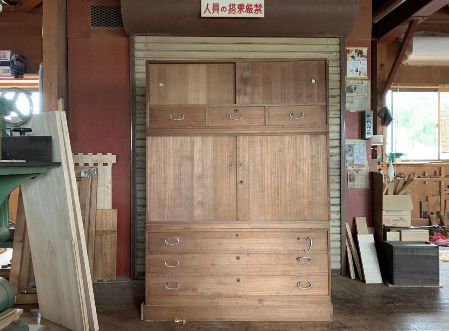 静岡県 西脇様 桐たんす 和たんす 修理・再生・リフォーム 天然オイル仕上げ 再生前