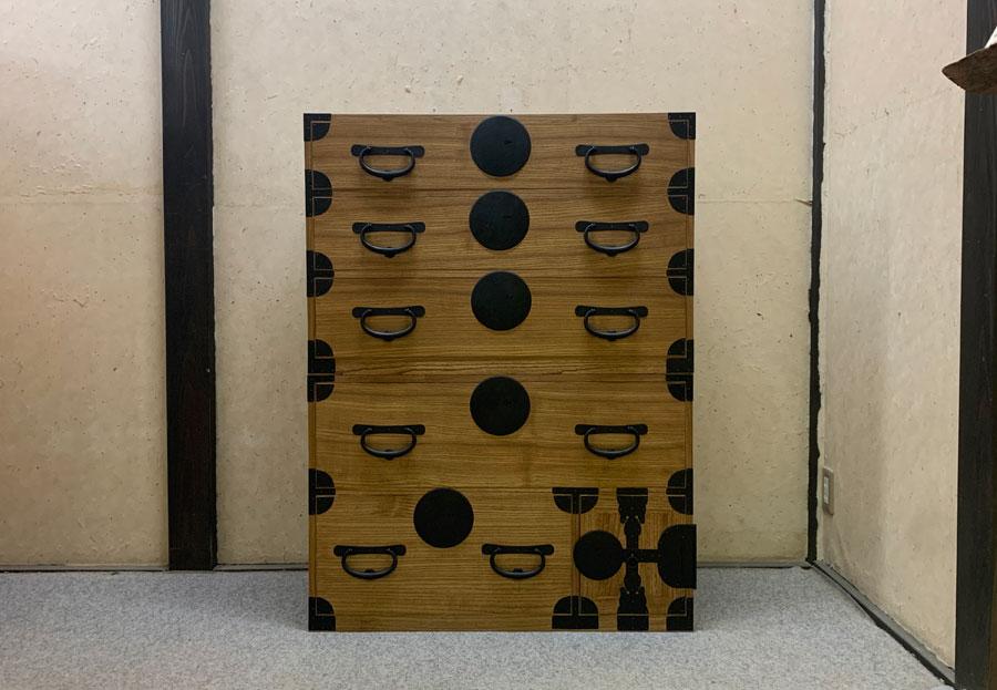 東京都 田中様 桐たんす 小袖たんす 修理・再生・リフォーム 天然オイル仕上げ 修理後