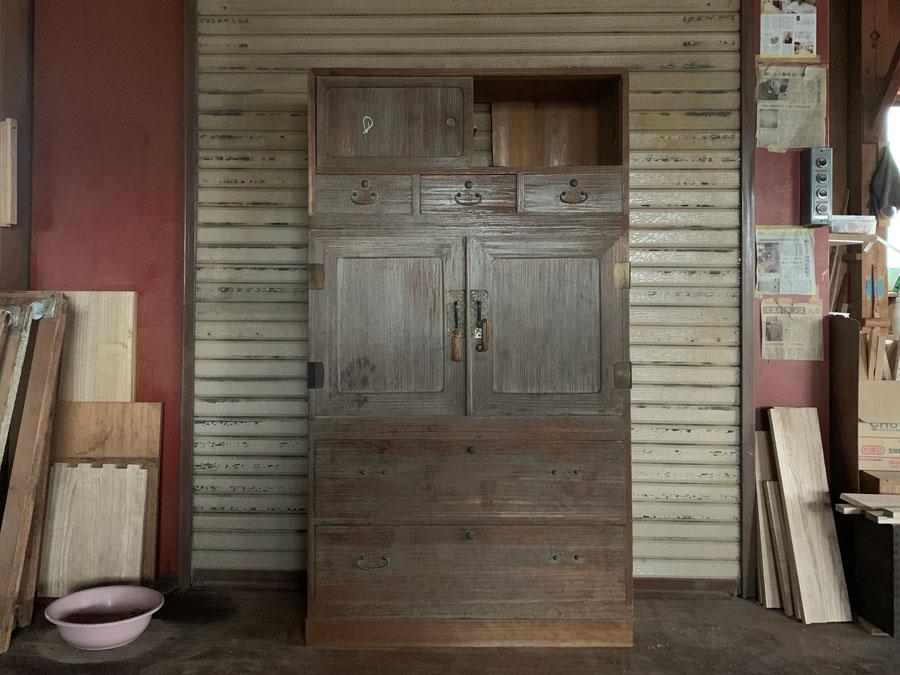 東京都 原島様 桐たんす 修理・再生・リフォーム 天然オイル塗装 修理前の画像