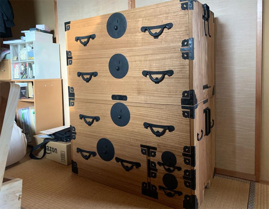 新潟県 K様 桐たんす 小袖たんす 修理・再生・リフォーム後の画像