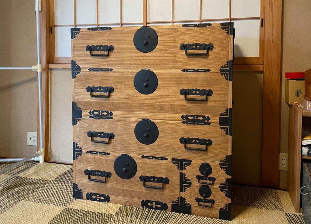 埼玉県 吉田様 桐たんす 小袖たんす 修理・再生・リフォーム後の画像