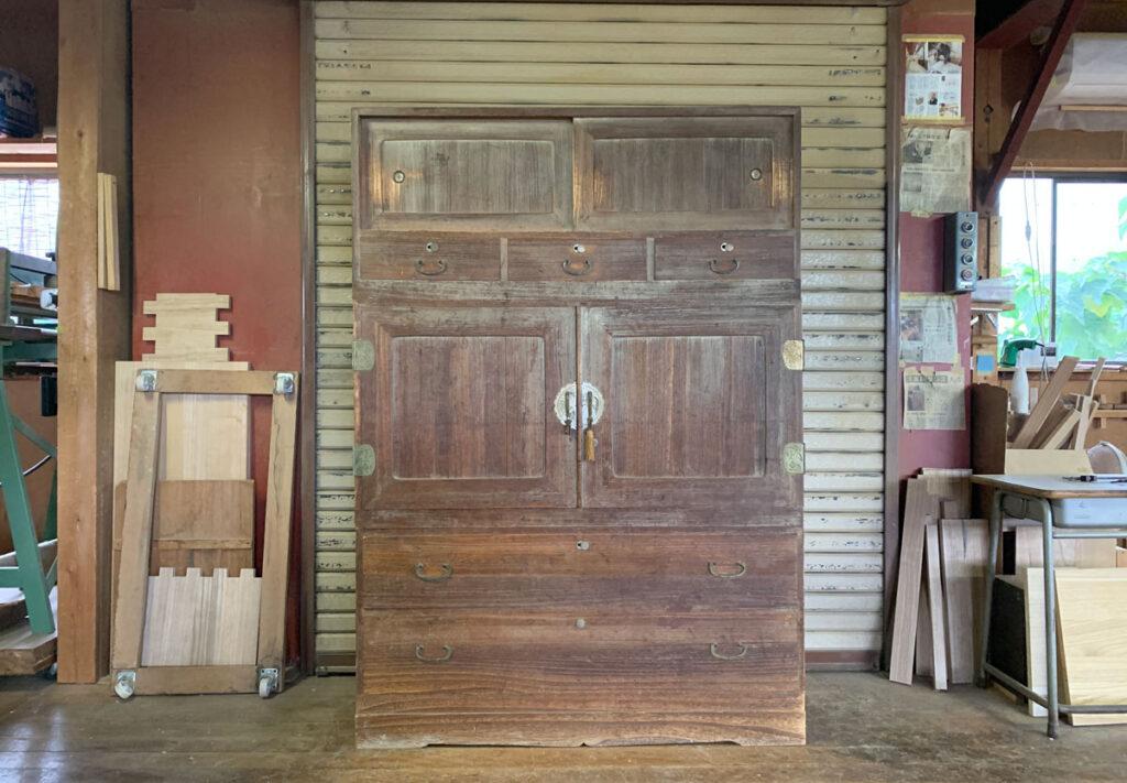 静岡県 鈴木様 桐たんす 和たんす 修理・再生・リフォーム前の画像