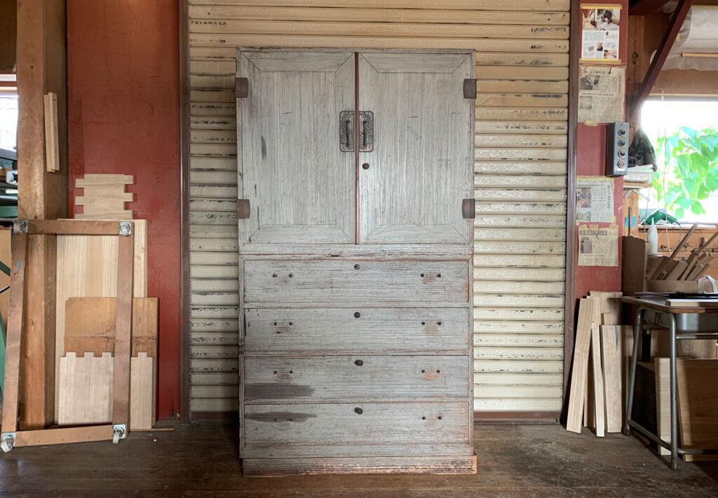 東京都 村上様 桐たんす 和たんす 修理・再生・リフォーム前の画像